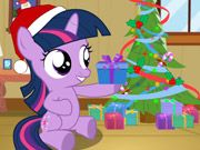 Twilight Sparkle Christmas Day    Lets decorate our apartment with Twilight Sparkle for the Christmas day. She want to draw a Santa picture. Use flashing lights and streamers decorated the Christmas tree. Finally lets find out Twilight Sparkles Christmas gift. We are very happy. mouse only  http://ezarcade.net/games/twilight-sparkle-christmas-day/