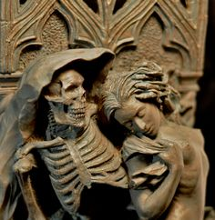 Death and the Maiden wall plaque by Dellamorteco on Etsy