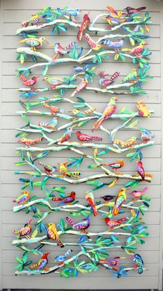 Great idea for a collaboration assignment! could be birds fish insects reptiles. sherrie nickel · collaborative art projects for kids Collaborative Art Projects For Kids, Group Art Projects, School Art Projects, Painting For Kids, Art For Kids, Painting Art, Art Auction Projects, Auction Ideas, Ecole Art
