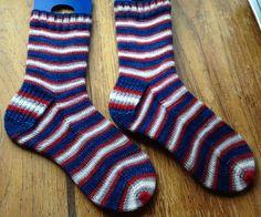 Ravelry: Casdena's Patriots socks