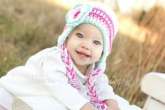 Hey, I found this really awesome Etsy listing at https://www.etsy.com/listing/77661143/baby-winter-hat-crochet-earflap-hat