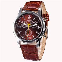 2017  Luxury Fashion Crocodile Faux Leather Mens Analog Watch Wrist Watch  men  Christmas Gif  mens watches brand luxur #20