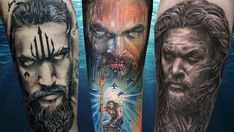 Löwen Tattoos in unserer Galerie der Woche Best 3d Tattoos, Cool Back Tattoos, Hand Tattoos, Sleeve Tattoos, Tattoos For Guys, Tatoos, Aquaman, Tattoo Studio, Sang Jin