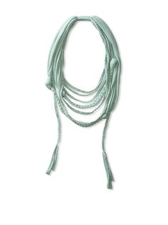 Jules Smith Women's Infinity Braided Scarf, Mint