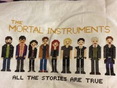 Mortal instruments pixel cross stitch