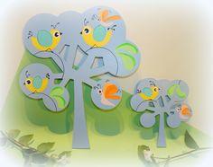 """Décoration murale pour chambre de bébé """"Oiseau lune et Papillon"""" : Autres bébé par mes-petites-betes"""