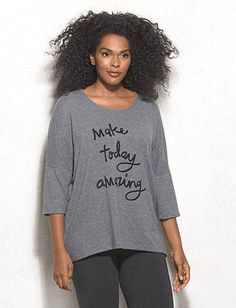 dbSunday Plus Size Knit Top #grey #greys #dbsunday #comfort #loungewear