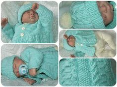"""CABLED CALLUM Pram Set on Craftsuprint designed by Divina Bates - Designed to be twinned with Holly Hearts knitting pattern this lovely cable and moss Pram Set would suit every cheeky cherub out there :) It would look just as goof for a boy or girl!Instructions are for: Leggings - Matinee Coat and HatSizes:Approx 12"""" chest to fit premature or 16-17"""" reborn dollApprox 14"""" chest to fit newborn or 18-19"""" reborn dollApprox 16"""" chest to fit 0-6 months or 20-22"""" reborn dollApprox 18"""" chest to fit…"""