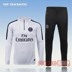 Current Top Quality Mens(PSG)Paris Saint Germain 2015 2016 White Tracksuit Personalised Customised | Thai Edition