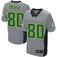 Mens Nike Green Bay Packers http://#80 Donald Driver Elite Grey Shadow Jersey $129.99
