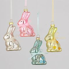 Mercury Glass Bunny Ornaments