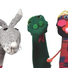Bunny and snake sock puppet