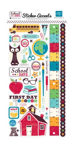 Echo Park - School Days Collection - Cardstock Stickers at Scrapbook.com $1.99