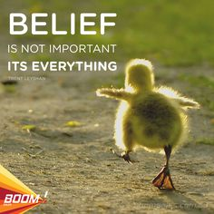 Belief is not important, its everything. - Trent Leyshan