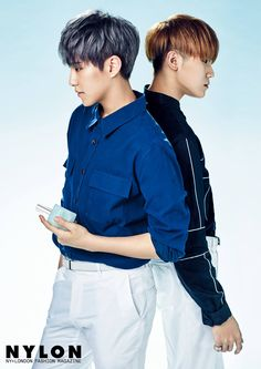 Hoshi, Woozi (Seventeen) - Nylon Magazine February Issue '17 - I can't stop thinking how Woozi is standing on something :'D xD