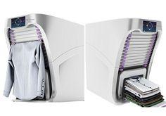Conheça a máquina de lavar capaz de lavar, secar, passar e dobrar suas roupas