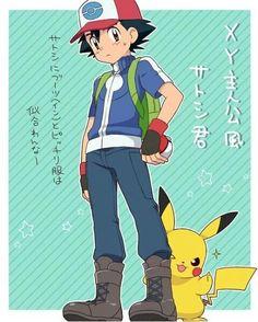 Ash y pikachu que h ermosos