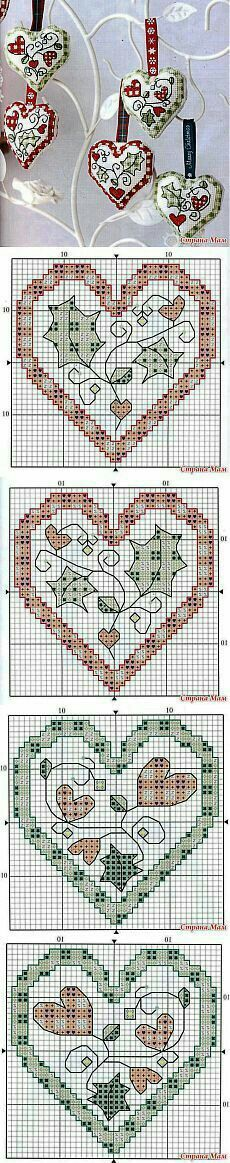 Thrilling Designing Your Own Cross Stitch Embroidery Patterns Ideas. Exhilarating Designing Your Own Cross Stitch Embroidery Patterns Ideas. Cross Stitch Christmas Ornaments, Xmas Cross Stitch, Cross Stitch Heart, Christmas Embroidery, Christmas Cross, Cross Stitching, Cross Stitch Embroidery, Embroidery Patterns, Christmas Hearts