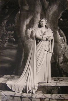 Maria Callas as Norma in the early 1950's   [photographer unknown]