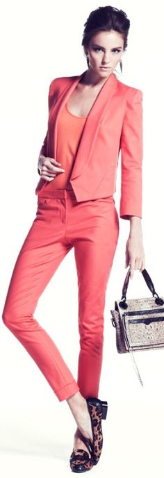 Rebecca Minkoff 2013 ~  A cool coral will look good on a Summer and a Winter  Sheike me Up  www.colourimageconsultant.com.au