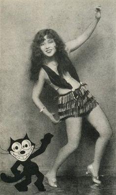Ann Pennington, the sexy dancer & Felix the Cat!