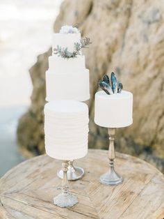 Seaside treasures: http://www.stylemepretty.com/2015/08/09/15-ways-to-dress-up-your-wedding-cake/