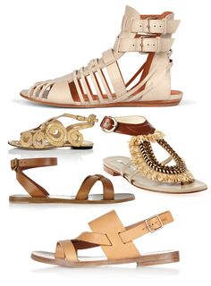 Summer Sandals - Natural leather, woven raffia, snake, lizard ... A choice of summer sandals for sunny holidays