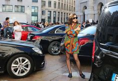 Eleonora Carisi in a Valentino dress. Milan Fashion Week 2016