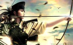 Fonds d'écran Fantasy et Science Fiction > Fonds d'écran Guerriers - Guerrières Tsuruchi Kyudo par saihtam - Hebus.com
