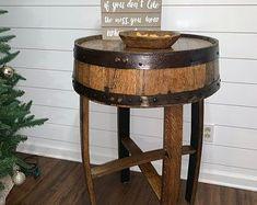 Barrel table | Etsy #barreltable,#reclaimedwoodcoffeetable,#winebarreltable,#whiskeybarreltable,#barrelendtable,#whiskeybarrelcoffeetable,#coffeetable,#barrelfurniture, #winebarrel,#winebarreltable, #whiskeybarreltable,#reclaimedwood Barrel Table, Home Goods Decor, Unique Home Decor, Custom Homes, Art Pieces, Diy Projects, The Incredibles, Furniture, Beautiful