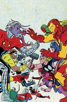 X-Statix Vol. X-Statix Vs. the Avengers (Trade Paperback) Comic Book Artists, Comic Artist, Comic Books Art, Psychedelic Art, Andy Warhol, Pink Floyd, Pinball, Marvel Dc, Comic Character