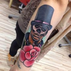 Baron Samedi was a very terrifying presence in Live and Let Die, but he was also the worst character in the Goldeneye video game. That being said, he makes for a good tattoo. #Baron #Samedi #james #bond #tattoo #movie #inked #ink #character