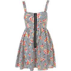 topshop dresses | dresses day dresses topshop dresses topshop floral stripe cup dress ...