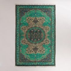 Blue Jute Soha Area Rug | World Market