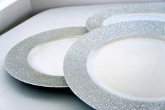 Glitter Plate Chargers..cute for a party or special dinner!