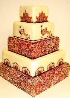 Indian Peacock Wedding Cake