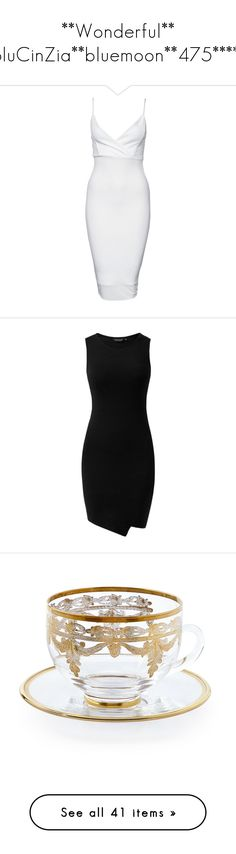 """""""**Wonderful** BluCinZia**bluemoon**475*****"""" by bluemoon ❤ liked on Polyvore featuring dresses, vestidos, short dresses, white, party dresses, womens-fashion, bodycon mini dress, short bodycon dresses, white body con dress and white v neck dress"""