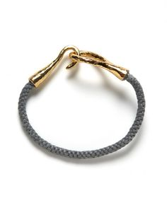 Tai Jewelry Braided Grey Cord Bracelet