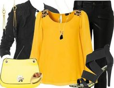 Yellow and black love it