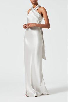 Silk Bridesmaid Dresses, Satin Dresses, Slip Wedding Dress, Silk Wedding Dresses, Silver Grey Dress, Bias Cut Dress, Designer Evening Dresses, Facon, Flare Skirt