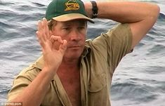 Final moments: The 'Crocodile Hunter' gave a poignant 'OK' sign hours before a giant stingray killed him Crocodile Hunter, Matthew 10, Steve Irwin, Set You Free, Jesus Saves, Satan, Occult, Ephesians 5, Stingrays
