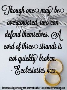 Though One May Be Overed Two Can Defend Themselves A Cord Of Three