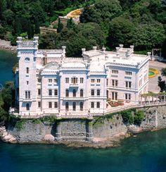 Miramare Castle in Trieste, Italy.