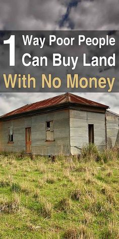 1 Way Poor People Can Buy Land With No Money - Buying First Home Tips - Ideas of Buying First Home Tips - Believe it or not owning a piece of land in the countryside is not a pipe dream. In fact it is very doable if you make smart decisions. Homestead Land, Off Grid Homestead, Homestead Survival, Survival Prepping, Survival Skills, Homestead Homes, Homestead Property, Homestead Living, Survival Stuff