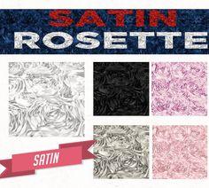 Satin Rosette Fabric by Yard - Style 01601   Crafts, Fabric   eBay!
