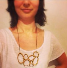 Large statement necklace  abstract necklace  eco by onehappyleaf, $35.00