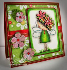 A fun and bright greeting card. The original image is designed by Megan, Dilly Beans Stamps. Dilly Beans, Art Journals, Original Image, Mixed Media Art, Cardmaking, Envy, Stamps, Canvas Art, Greeting Cards