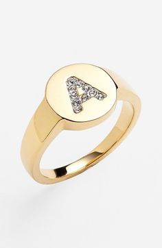 Free shipping and returns on Nadri Pavé Initial Ring at Nordstrom.com. Make an eye-catching, personalized statement with an initial-marked ring emblazoned with crystals.