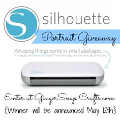 Ginger Snap Crafts: Silhouette Chipboard, May Promotions & Silhouette Portrait™ Giveaway #giveaway #ad