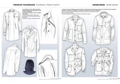 Image result for women's coat lining flat technical drawing